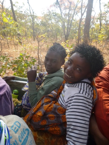 """Miriam (L) and Prudence, two awesome girls who each were chosen as """"Camp TREE student of the day."""""""