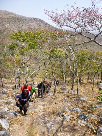 Hiking up Mount Lavushi.