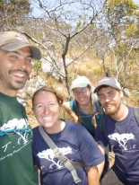 Blue and Green pride PCVs enjoying the hike. L to R: Zach, Taylor, me, and Trevor.