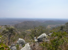 Views of wetlands and part of the 40-kilometer-long mountain range that runs through the center of the park.
