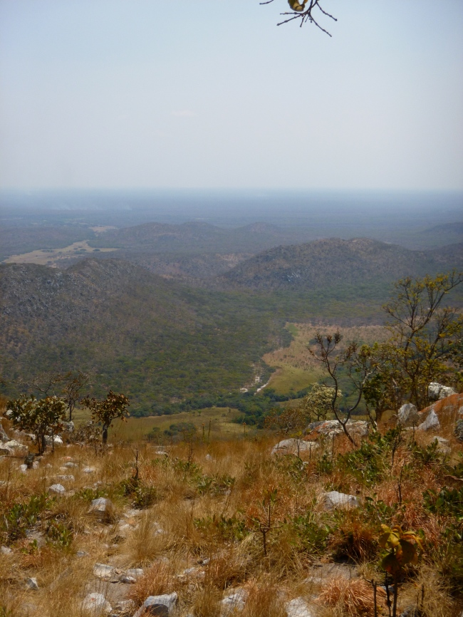 View from the top of Mount Lavushi. Everything you can see is a part of the sprawling, 1,500km-square Lavushi Manda National Park.