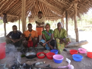 Banakulu Teba (far right), with other Mfuba Co-op Executive Board members, is a respected leader in the community.