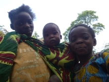 Mavis (carrying Neftali) and Evet.