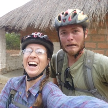 The journey begins - with Adam, who biked with me from his site in Mfungwe to Taylor's site, 80 Km away in Chungu.
