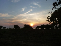 Sunrise over Lake Chifunabuli, seen from PCVs Jim and Julie's yard in Lubwe.
