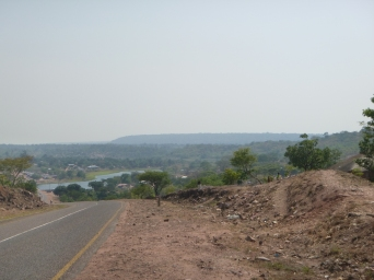 Views from the hilly ride between Mansa and Mwense.