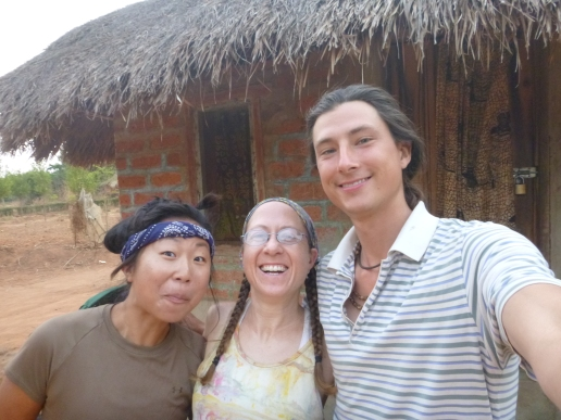 Ryeon, me, and Samwell, at Ryeon's site just outside Mwense. We'd planned to set off at first light on our long ride to Intumbachushi Falls, but a lost key delayed us until well after daybreak. At least we got to take this photo!