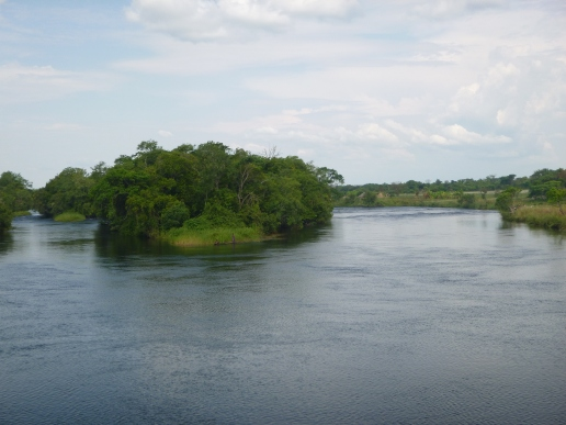 The Kalungwishi River, just downstream from Lumangwe Falls.