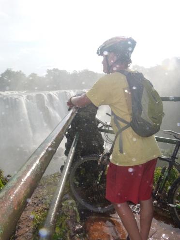 Adam at Lumangwe Falls.