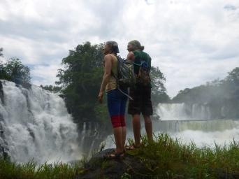 Me and Lucas at Kabweluma Falls.