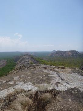 Along the spine of Caterpillar Rock.