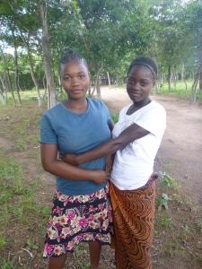 GLOW girls Harriet and Mwape.