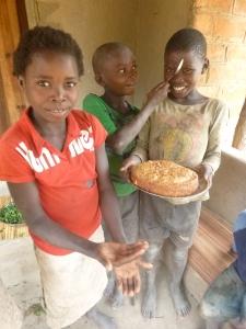 Yay banana cake! Joyci, Boke, and Allan, Jr.