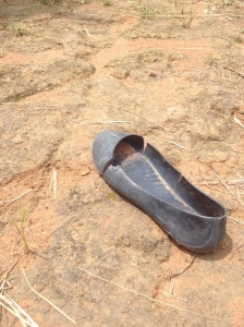 One left-behind shoe. Photo courtesy of Cody Heche.
