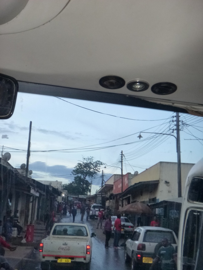 View of Blantyre from inside one of the many, many minibuses we took.