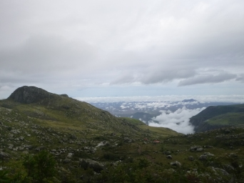View from the start of the Sapitwa Peak hike.