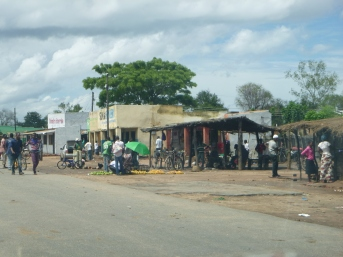 Southern Malawi was so densely populated that we passed through a ton of small towns like this. Far different from the long distances between settlements in northern Zambia.