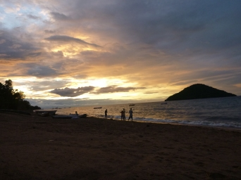 Sunset in Cape Maclear.