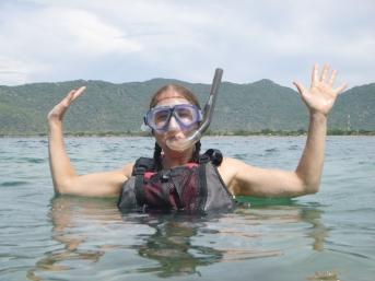 Me in snorkel gear.