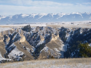"""What I think of when I talk about """"mountains."""" The Swan Range in the lower Flathead Valley."""