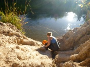 This is where Melissa got her water. A far cry from my well, and from the boreholes some PCVs use.