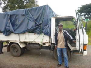 Bashi Nevis with his awesome Canter truck.