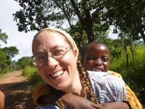Me carrying Boni on my back. We weren't even going far. It was just another excuse for affection.