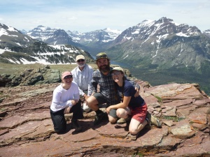 Out in Glacier National Park with Dabney, Joe, and Alex.